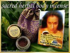 Scent of Samadhi 5 gm Ayurveda Perfume w/Red Sandalwood, Tulsi, BRAND NEW