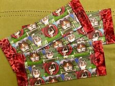 Adult Sable Merle Collie Sheltie Agility Face Masks Red Trim 100% to Rescue
