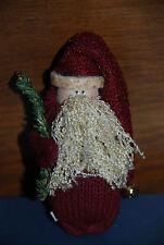 Handmade Santa Claus Pinback Christmas Ornament -- Holiday Decorations