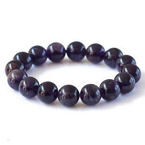 Natural Amethyst Gemstone Crystal Bead Men Women Lucky Charm Energy Bracelet UK
