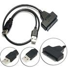 """USB2.0 to SATA 2.5"""" 22pin Hard Disk Driver Convertor Adapter Cable for Laptop BS"""