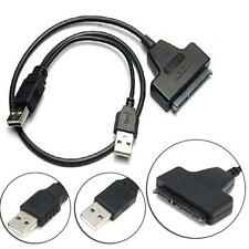 "USB2.0 to SATA 2.5"" 22pin Hard Disk Driver Convertor Adapter Cable for Laptop GN"
