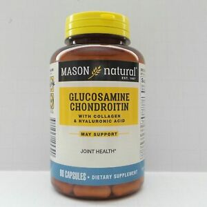 Best 90 Capsules GLUCOSAMINE CHONDROITIN w/ COLLAGEN and HYALURONIC ACID Joint