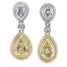 Gorgeous Ladies Earrings Set 6.50 CTW Pear Shape Diamond 18K WG GIA certified