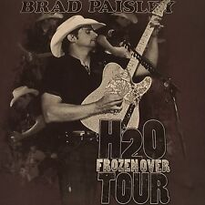 official Brad Paisley t shirt - 2011 H2O Frozen Over Tour - brown 2 sided - (L)