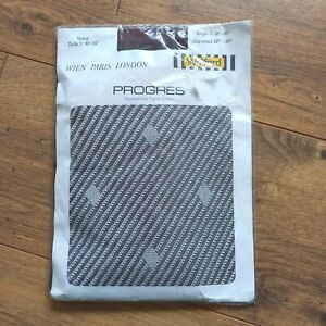 """Wolford Vintage PROGRESS  Patterned Tights Lycra Cigarillo Brown S 34"""" 38"""" hip"""