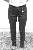 jeans elástica negro M+F GIRBAUD bota tacón TALLA 26 (36) NUEVO precio tienda