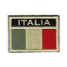 [Patch] BANDIERA ITALIA softair bassa visibilità cm6,5x4,5 ricamo ITALY -444