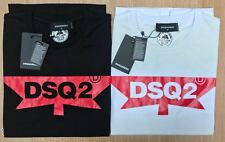 DSQUARED2 DSQ2 Maple Leaf printed Crew Neck Tshirt short sleeve Reg to Slim Fit