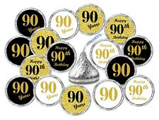 90th Birthday Kisses Labels Stickers Party Favors Set Of 324