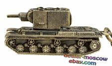 Bronze Solid Brass Keychain Soviet Heavy Assault Tank KV-2 Sturm WW2 Keyring