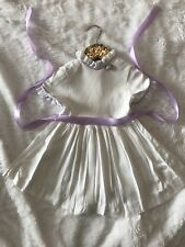 Vintage 2/3 White Pleated Dress Lace Purple Girls Toddler Party Spring Summer