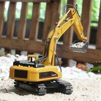 HUINA 1710 1:50 Alloy Excavator RC Car Engineering Construction Static Model