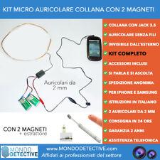 Collana induttiva micro auricolare microauricolare spia spy cimice 2 mm magneti