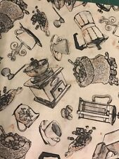 Timeless Treasures ~ Coffee Espresso Cup Grinders ~ 100% Cotton Quilt Fabric BTY