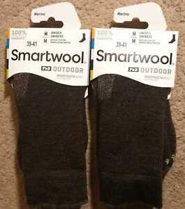 2 Pairs!!! Smartwool PhD Medium Cushion Crew Socks Merino Wool Outdoor, Size M