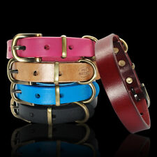 Soft Plain Leather Small Dog Collars Metal Bucke Chihuahua Pug Brown Black Pink