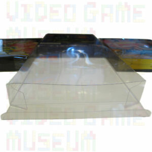 5 Custom Clear Plastic Box Protectors Archival Case Sleeves for NES Boxed Games