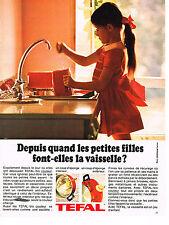 PUBLICITE ADVERTISING 014   1969   TEFAL   casseroles poeles