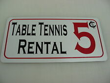 Table Tennis Rental Metal Sign vintage style Pool billiards 4 Pool Hall or Bar