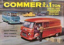 Commer PA 1600 ¾ & 1 Ton Van Motorhome Minibus Pickup Floats 1964/65 Brochure
