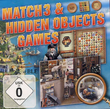 PC Spiel + Match 3 & Hidden Objects Games + Rätsel + Wimmelbild + Vista