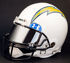 Los Angeles Chargers Nfl Authentic Gameday Football Helmet w/ Mirror Eye Shield