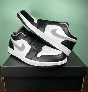 DS Air Jordan 1 Low Black/Gray/White Size 10.5 Men [553558 040]