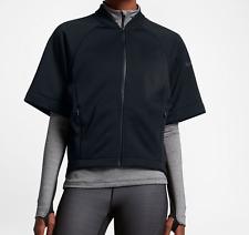 Nike Women's Therma Short Sleeve Training Black Top (809262-010) Size M & L