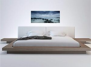Ocean Coast Rocks Panographic View Color Wall Sticker Wall Mural 15x36