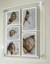 """Multi picture photo frame  for  7 x 5"""" & 6 x 4 """"  all colour Cheshire acrylic"""