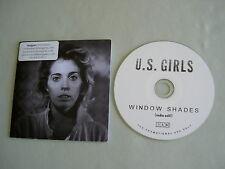 U.S. GIRLS Window Shades (Radio Edit) promo CD single