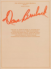"""""""THE GENIUS OF DAVE BRUBECK-BOOK 1"""" PIANO SOLOS MUSIC BOOK-BRAND NEW ON SALE!!"""
