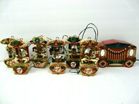 Mr Christmas Holiday Carousel Lighted Musical String of 6 Horses 21 Carols Songs