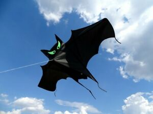 Einleiner Drachen Fledermaus schwarz