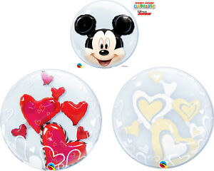 Qualatex Double Bubbles Mickey Mouse, Red Hearts, Ivory Hearts Special Offer