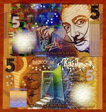 Kamberra, 5 Numismas, 2018, Private Issue > Yellow Salvador Dali, New Color