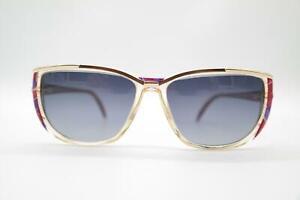 Vintage Rodenstock 501 Gold Transparent Multicoloured Oval Sunglasses