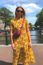 ZARA SS19 Long Flowing Floral Print Pleated Midi Maxi Dress Yellow Red XS S BNWT