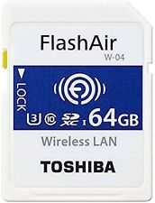 Toshiba SDXC memory card with wireless LAN Flash Air 64GB or 32GB Class10 i1320