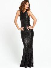 BNWT MYLEENE KLASS BLACK FULLY SEQUINNED  MAXI DRESS SIZE 14 RRP £125