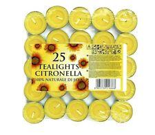 Zitronengras Teelichter Mücken Fliegen Insekten Abwehr Tee Lichter 25er Pack