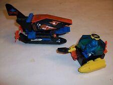 2 Rare LEGOS Lego SUBMARINE SHARK BOAT & FIGURES