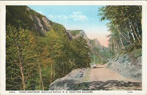 WB postcard, Three Brothers, Dixville Notch, near Balsams, NH