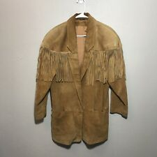 VTG Jacket Fringe Suede Leather Blazer Oversized Fit Size Medium