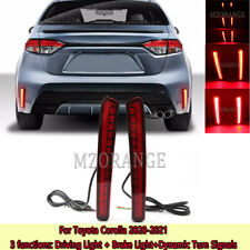 For Toyota Corolla 2020-2021 LED Rear Bumper Driving Brake Light Flowing Signal