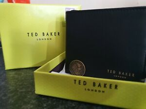 Ted Baker Anthony Bifold Leather Wallet , New With Box Tags And Ted Baker Coin