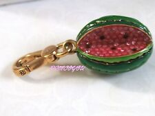 NWT AUTHENTIC JUICY COUTURE WATERMELON GREEN PINK GOLD  CHARM  WITH BOX RETIRED