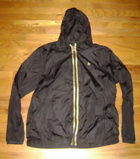 PENGUIN MEN FULL ZIP HOODED RAIN JACKET COAT size XXL BLACK SPORT WINDBREAKER