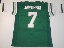 UNSIGNED CUSTOM Sewn Stitched Ron Jaworski Green Jersey - 3XL